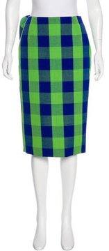 Stella Jean Gingham Knee-Length Skirt