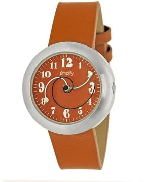 Simplify The 2700 Collection SIM2704 Unisex Stainless Steel Watch with Leather Strap