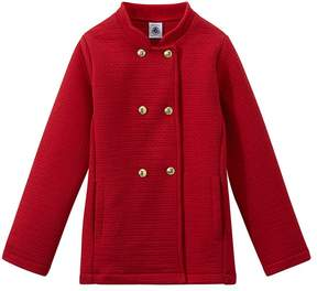 Petit Bateau Girls quilted double knit coat