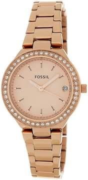 Fossil Women's Blane Crystal Embellished Bracelet Watch & Bracelet Set, 31mm