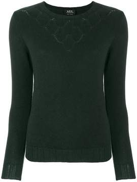 A.P.C. patterned knit neckline sweater
