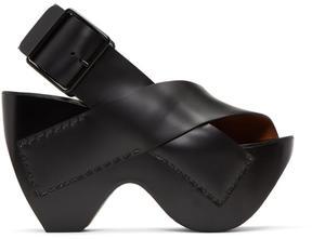 Acne Studios Black Carley Sandals