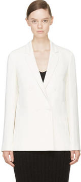 Calvin Klein Collection Ivory Crepe Abiba Blazer