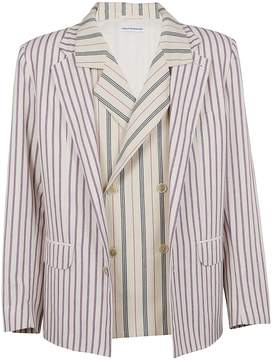 Gosha Rubchinskiy Double Layer Striped Blazer