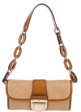 Michael Kors Raffia Shoulder Bag - BROWN - STYLE