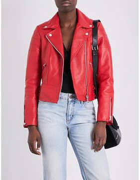 Claudie Pierlot Clemence leather biker jacket
