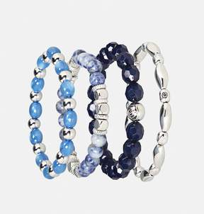Avenue Blue Bead Stretch Bracelet Set