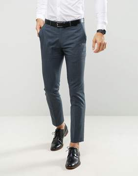 Farah Smart Skinny Suit Pants In Melange