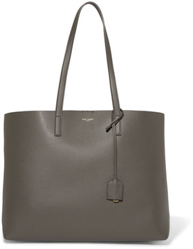 Saint Laurent Shopper Large Textured-leather Tote - Anthracite - ANTHRACITE - STYLE