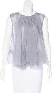 Emporio Armani Sleeveless Silk Top w/ Tags