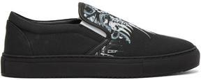 Marcelo Burlon County of Milan Black Eurek Slip-On Sneakers