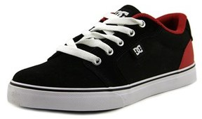 DC Anvil Youth Round Toe Leather Black Skate Shoe.