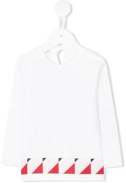 Marni Kids graphic print long sleeve T-shirt