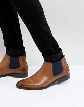 Base London Ramson Leather Chelsea Boots in Tan