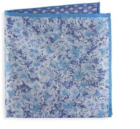 Saks Fifth Avenue Men's Floral and Dot Silk Pocket Square