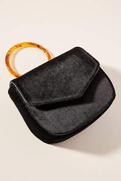 Anthropologie Lucite-Handled Ring Bag