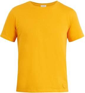 Saint Laurent Logo-patch cotton T-shirt
