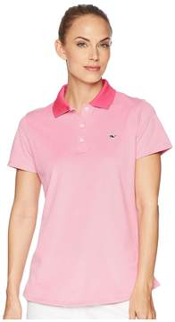 Vineyard Vines Golf Short Sleeve Pique Polo Women's Short Sleeve Pullover