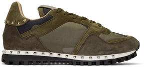 Valentino Green Garavani Camo Rockstud Sneakers