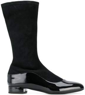 Giorgio Armani contrast panel boots