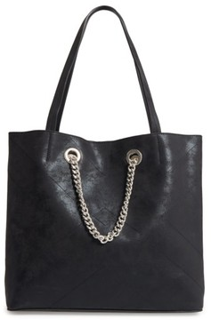 Chelsea28 Dakota Chain Faux Leather Tote - Black