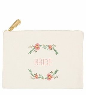 Cathy's Concepts Bridesmaid Canvas Pouch - White