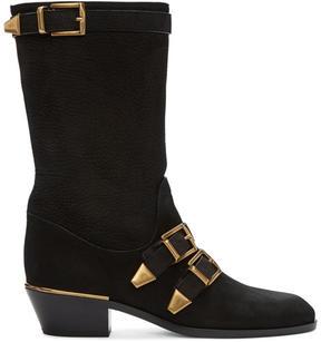 Chloé Black Suede Susan Boots