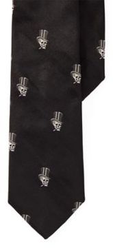 Ralph Lauren Top Hat-Skull Silk Narrow Tie Black One Size