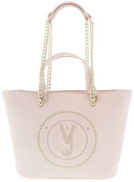 Versace EE1VRBBQ7 Light Pink Tote Bag W/ chain strap
