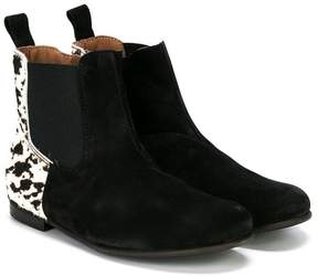 Pépé Kids animal print zipped boots