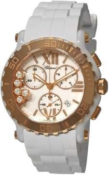 Chopard Happy Sport Round Mother of Pearl Chronograph Ladies Watch