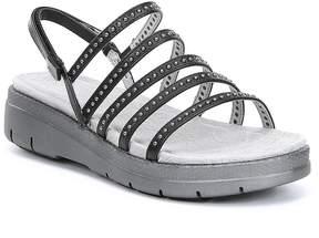 Jambu Elegance Rhinestone Leather Sandals