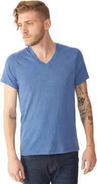Alternative Apparel Feeder Striped V-Neck T-Shirt