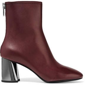3.1 Phillip Lim Leather Ankle Boots - Burgundy