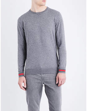 Replay Contrast cuff cotton and wool-blend jumper