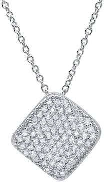 Crislu CZ Pave Geometric Pendant Necklace