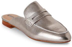 Tahari Silver Flora Slip On Loafers