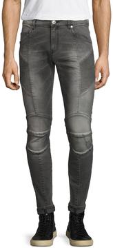Pierre Balmain Men's Fading Curved Pocket Skinny Jeans