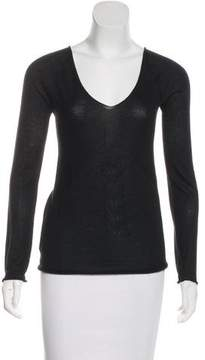 CNC Costume National Long Sleeve Cashmere Top