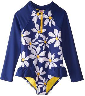 Hula Star Girls' Daisy Chain L/S One Piece Swimsuit (2T6X) - 8154260