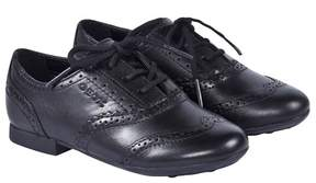 Geox Black Plie Leather Lace Up Shoes