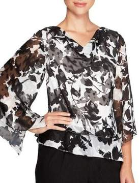Alex Evenings Plus Cowl Neck Blouse