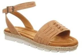 BearPaw Women's Aubree Ankle Strap Huarache Sandal.
