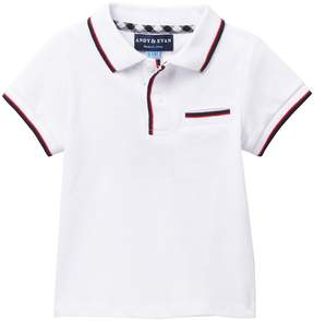 Andy & Evan White Polo with Accent Tipping (Baby Boys)