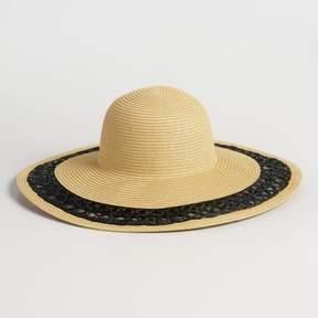 World Market Black Trim Sun Hat
