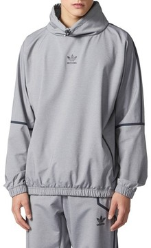 adidas Men's Taped Mock Neck Windbreaker