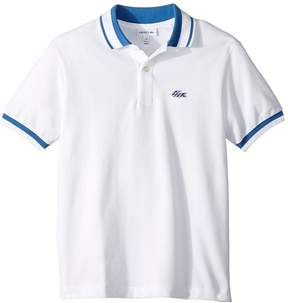 Lacoste Kids Short Sleeve Candy Stripe Croc Polo Boy's Short Sleeve Pullover