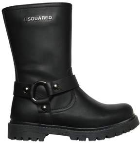DSQUARED2 Leather Biker Boots