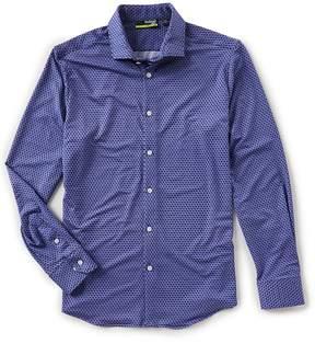 Murano Performance Slim Geo Print Knit Shirt