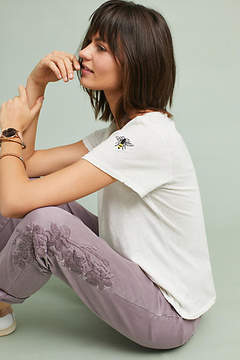 Anthropologie Chino by Relaxed Embroidered Chino Pants